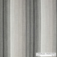 Charles Parsons Sierra - Platinum  | Curtain Sheer Fabric - Grey, Stripe, Synthetic, Uncoated, Washable, Domestic Use, Weighted Hem, Wide Width