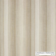 Charles Parsons Sierra - Linen    Curtain Sheer Fabric - Stripe, Synthetic, Tan, Taupe, Uncoated, Washable, Domestic Use, Weighted Hem