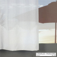 Charles Parsons Cornelli - Turin White  | Curtain Sheer Fabric - Fire Retardant, Plain, White, Synthetic, Uncoated, Washable, Commercial Use, White, Wide Width
