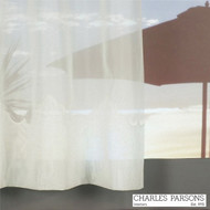 Charles Parsons Cornelli - Rhodes Ivory  | Curtain Sheer Fabric - Fire Retardant, Plain, White, Synthetic, Washable, Commercial Use, White, Wide Width