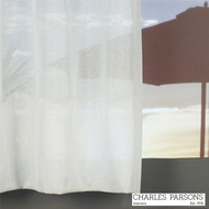 Charles Parsons Cornelli - Napoli White  | Curtain Sheer Fabric - Fire Retardant, Plain, White, Synthetic, Washable, Commercial Use, White, Wide Width