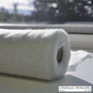 Charles Parsons Bumph - European 140 Off White  | Curtain Lining Fabric - Plain, White, Synthetic, Commercial Use, White