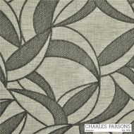 Charles Parsons Jake - Leaf Grey  | Curtain & Upholstery fabric - Grey, Floral, Garden, Midcentury, Synthetic, Uncoated, Commercial Use