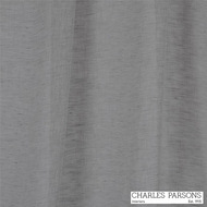 Charles Parsons Joe - Silver  | Curtain Sheer Fabric - Grey, Plain, Natural Fibre, Uncoated, Commercial Use, Natural, Weighted Hem, Wide Width