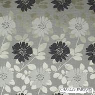 Charles Parsons Deauville - Cobblestone  | Curtain & Upholstery fabric - Grey, Craftsman, Fibre Blends, Floral, Garden, Traditional, Washable, Commercial Use, Standard Width