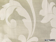 Champagne' | Curtain Fabric - Gold - Yellow, White, Damask, Fiber blend, Floral, Garden, Traditional, White, Domestic Use