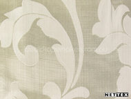 Nettex Stately Leighton Champagne MG4  | Curtain Fabric - Gold - Yellow, White, Damask, Fiber blend, Floral, Garden, Traditional, White, Domestic Use
