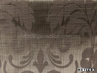 Nettex Stately Chatsworth Burnish MG8    Curtain Fabric - Brown, Damask, Fibre Blends, Floral, Garden, Traditional, Domestic Use, Standard Width