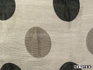 Nettex Savvy Dapple Pewter MG10  | Curtain Fabric - Black - Charcoal, Geometric, Midcentury, Synthetic, Tan, Taupe, Domestic Use, Dots, Spots, Natural, Standard Width, Circles