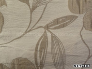 Nettex Savvy Champagne MG12  | Curtain Fabric - Beige, White, Asian, Floral, Garden, Synthetic, Tan, Taupe, Chinoise, Domestic Use, Natural, White