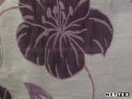 Grape' | Curtain Fabric - Asian, Floral, Garden, Synthetic fibre, Traditional, Pink - Purple, Domestic Use, Natural, Chinoiserie - Chinoise