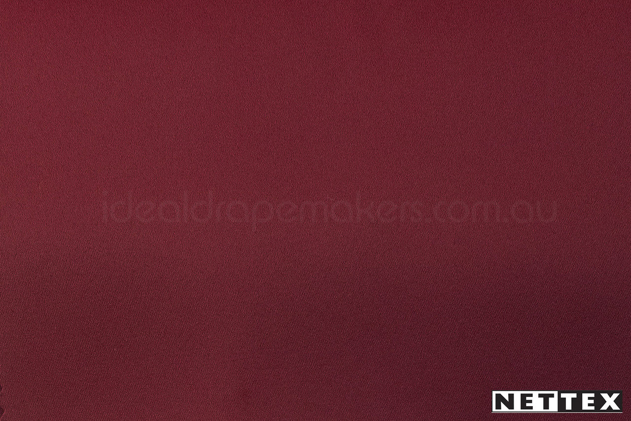 Muscat' | Curtain & Curtain lining fabric - Burgundy, Fire Retardant, Plain, Synthetic fibre, Domestic Use