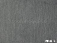 Steel' | Curtain Fabric - Fire Retardant, Grey, Plain, Synthetic fibre, Tan - Taupe, Domestic Use, Natural