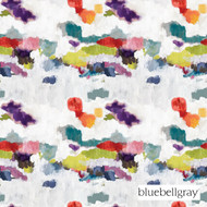 Bluebellgray Wee Nevis - Spring  | Curtain Fabric - Blue, Red, Contemporary, Deco, Decorative, Natural Fibre, Organic, Domestic Use, Dry Clean, Natural, Top of Bed