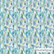 bluebellgray Cameron - Teal  | Curtain & Upholstery fabric - Blue, Deco, Decorative, Floral, Garden, Natural fibre, Organic, Turquoise, Teal, Domestic Use, Natural, Top of Bed