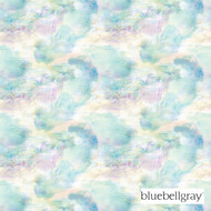 bluebellgray Impressionist - Teal  | Curtain & Upholstery fabric - Blue, Deco, Decorative, Floral, Garden, Natural fibre, Organic, Transitional, Turquoise, Teal, Domestic Use, Natural, Top of Bed