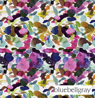 Bluebellgray James Summer - Summer  | Curtain & Upholstery fabric - Blue, Contemporary, Floral, Garden, Natural Fibre, Pink, Purple, Domestic Use, Dry Clean, Natural