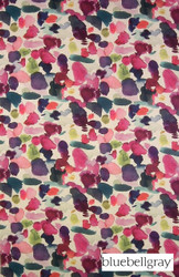Bluebellgray Abstract - Multi  | Curtain & Upholstery fabric - Blue, Contemporary, Deco, Decorative, Floral, Garden, Multi-Coloured, Natural Fibre, Pink, Purple, Dry Clean