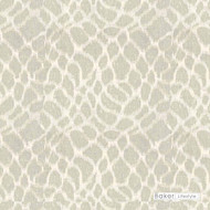 Baker Lifestyle - Anet - Silver  | Curtain & Curtain lining fabric - White, Contemporary, Synthetic, Transitional, White
