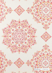 Bal_PW78034_4 'Fuchsia' | - Red, Medallion, Red, Traditional, Diamond - Harlequin