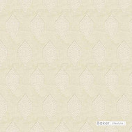 Baker Lifestyle - Anisha - Ivory    Curtain & Upholstery fabric - Beige, Geometric, Honeycomb, Midcentury, Natural Fibre, Transitional, Embroidery, Natural