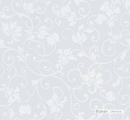 Baker Lifestyle - Crystal - White    Curtain & Curtain lining fabric - Synthetic, Transitional, Lattice, Trellis, Wide Width