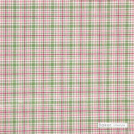 Baker Lifestyle - M7683 - 750    Curtain & Upholstery fabric - Green, White, Natural fibre, Traditional, Pink - Purple, White, Natural