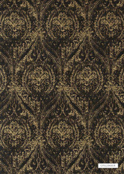 GPJ Baker - Wolsey - Bronze-Ebony  | Curtain & Upholstery fabric - Brown, Fibre Blends, Ogee, Traditional, Weave