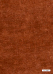 GPJ Baker - King'S Velvet - Amber  | Upholstery Fabric - Brown, Plain, Fiber blend, Velvet