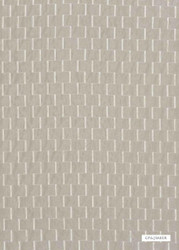 Silver' | Curtain & Upholstery fabric - Grey, Check, Synthetic fibre, Weave