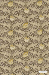 Bak_BP10622_5 'Linen' | Curtain & Upholstery fabric - Craftsman, Floral, Garden, Synthetic fibre, Tan - Taupe
