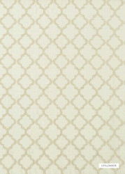 GPJ Baker - Cottesmore - Silver  | Curtain & Upholstery fabric - Beige, White, Fiber blend, Mediterranean, Quatrefoil, Tan, Taupe, Transitional, Embroidery, White