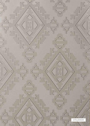 GPJ Baker - Navajo - Pewter  | Wallpaper, Wallcovering - Tan, Taupe, Transitional, Diamond - Harlequin
