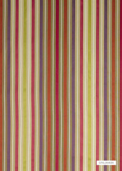 GPJ Baker - Somerford Stripe - Ruby-Purple-Rust  | Curtain & Upholstery fabric - Green, Natural fibre, Stripe, Transitional, Embroidery, Natural