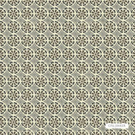 GPJ Baker - Daisy Daisy - Onyx-Grey  | Curtain & Upholstery fabric - Floral, Garden, Midcentury, Natural Fibre, Small Scale, Natural, Standard Width, Circles