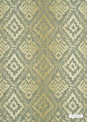 Sand' | Curtain & Upholstery fabric - Gold - Yellow, Green, Kilim, Mediterranean, Natural fibre, Natural