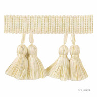 Bak_T30584_16 'Ivory' | Fringe, Curtain & Upholstery Trim - White, Synthetic fibre, Traditional, White