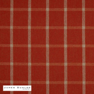 James Dunlop Indent - Haddington - Auburn  | Curtain & Upholstery fabric - Fire Retardant, Red, Check, Farmhouse, Fibre Blends, Geometric, Gingham, Washable, Commercial Use