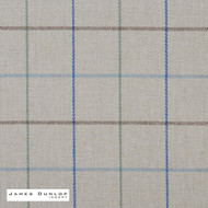 James Dunlop Indent - Heriot - Larkspur  | Curtain & Upholstery fabric - Blue, Fire Retardant, Check, Contemporary, Fibre Blends, Geometric, Washable, Commercial Use