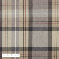 James Dunlop Indent - Lanark - Slate  | Curtain & Upholstery fabric - Fire Retardant, Grey, Check, Fiber blend, Geometric, Traditional, Commercial Use, Top of Bed