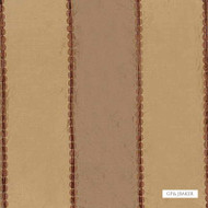GPJ Baker - Valentino Stripe - Coffee  | Curtain Fabric - Natural Fibre, Silk, Stripe, Traditional, Natural, Standard Width