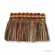 Moss' | Fringe, Curtain & Upholstery Trim - Red, Red, Synthetic fibre, Traditional