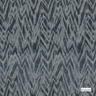 Kravet - Les Antibes - Indigo  | Upholstery Fabric - Beige, Blue, Contemporary, Midcentury, Synthetic, Velvet