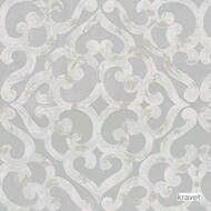 Kravet - Kurrajong - Seaglass  | Upholstery Fabric - Beige, Grey, Mediterranean, Synthetic, Transitional, Lattice, Trellis