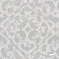 Kravet - Kurrajong - Seaglass  | Upholstery Fabric - Grey, Mediterranean, Synthetic, Transitional, Lattice, Trellis, Standard Width
