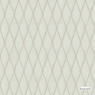 Kravet - Braiden - Lunar  | Upholstery Fabric - Beige, White, Midcentury, Ogee, Pattern, Synthetic, Transitional, Embroidery, White, Standard Width