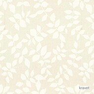 Kra_4101_1 ''   Curtain & Curtain lining fabric - White, Floral, Garden, Midcentury, Synthetic fibre, White