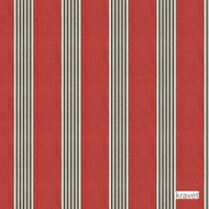 Kravet - Mesud - Poppy  | Upholstery Fabric - Beige, Grey, Red, Natural fibre, Red, Stripe, Traditional, Natural