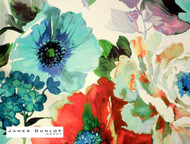 James Dunlop Indent - Garden Wallpaper - Poppy  | Wallpaper, Wallcovering - Red, Contemporary, Eclectic, Fiber blend, Floral, Garden, Turquoise, Teal, Domestic Use
