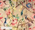 James Dunlop Indent - Hampton Court - Jewel  | Curtain & Upholstery fabric - Blue, Deco, Decorative, Floral, Garden, Multi-Coloured, Natural fibre, Pink, Purple, Traditional, Turquoise, Teal